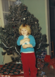 1960 - Christmas - CB Colman with Poodle